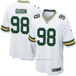 Camiseta Green Bay Packers Guion Blanco Nike Game NFL Nino