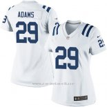 Camiseta Indianapolis Colts Adams Blanco Nike Game NFL Mujer