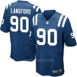 Camiseta Indianapolis Colts Langford Azul Nike Game NFL Hombre