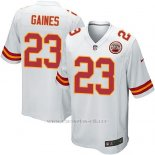 Camiseta Kansas City Chiefs Gaines Blanco Nike Game NFL Nino