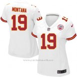 Camiseta Kansas City Chiefs Montana Blanco Nike Game NFL Mujer