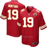 Camiseta Kansas City Chiefs Montana Rojo Nike Game NFL Nino