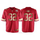 Camiseta Kansas City Chiefs Ware Rojo Nike Gold Game NFL Hombre