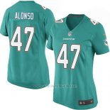 Camiseta Miami Dolphins Alonso Verde Nike Game NFL Mujer