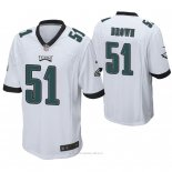 Camiseta NFL Game Hombre Philadelphia Eagles Zach Brown Blanco