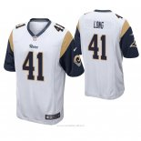 Camiseta NFL Game Hombre St Louis Rams David Long Blanco