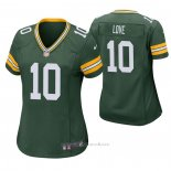 Camiseta NFL Game Mujer Green Bay Packers 10 Jordan Love 2020 Verde