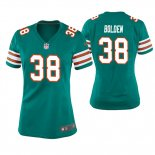 Camiseta NFL Game Mujer Miami Dolphins Brandon Bolden Throwback Verde
