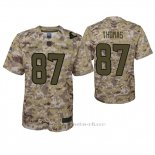 Camiseta NFL Game Nino Houston Texans Demaryius Thomas Camuflaje 2018 Salute To Service
