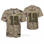 Camiseta NFL Game Nino Philadelphia Eagles Golden Tate Camuflaje 2018 Salute To Service