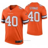 Camiseta NFL Legend Dallas Cowboys 40 Justin Strnad 2020 Naranja Color Rush