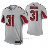 Camiseta NFL Legend Hombre Arizona Cardinals 31 David Johnson Inverted Gris