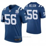 Camiseta NFL Legend Hombre Indianapolis Colts Quenton Nelson 35th Anniersary Azul Color Rush