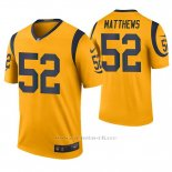 Camiseta NFL Legend Hombre St Louis Rams Clay Matthews Oro Color Rush