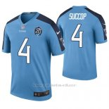 Camiseta NFL Legend Hombre Tennessee Titans Ryan Succop Azul 20th Anniversary Color Rush