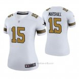 Camiseta NFL Legend Mujer New Orleans Saints Brandon Marshall Blanco Color Rush