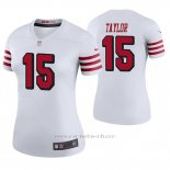Camiseta NFL Legend Mujer San Francisco 49ers Trent Taylor Blanco Color Rush