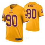 Camiseta NFL Legend Washington Redskins Montez Sweat Color Rush Amarillo