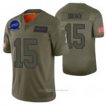 Camiseta NFL Limited Buffalo Bills John Brown 2019 Salute To Service Verde