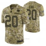 Camiseta NFL Limited Green Bay Packers 20 Kevin King 2018 Salute To Service Camuflaje