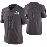 Camiseta NFL Limited Hombre Atlanta Falcons Julio Jones Gris Super Bowl LIII