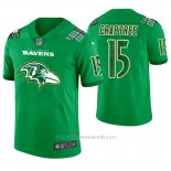 Camiseta NFL Limited Hombre Baltimore Ravens Michael Crabtree St. Patrick's Day Verde