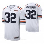 Camiseta NFL Limited Hombre Chicago Bears David Montgomery 100th Season Classic Blanco