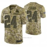 Camiseta NFL Limited Hombre Cleveland Browns Nick Chubb Camuflaje 2018 Salute To Service