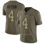 Camiseta NFL Limited Hombre Houston Texans 4 Deshaun Watson Stitched 2017 Salute To Service