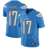 Camiseta NFL Limited Hombre Los Angeles Chargers 17 Philip Rivers Electric Azul Alterno Stitched Apor Untouchable