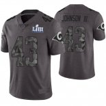 Camiseta NFL Limited Hombre Los Angeles Rams John Johnson Gris Super Bowl LIII