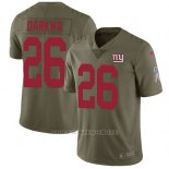 Camiseta NFL Limited Hombre New York Giants 26 Orleans Darkwa Olive Stitched 2017 Salute To Service