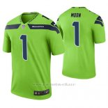 Camiseta NFL Limited Hombre Seattle Seahawks Warren Moon Verde Color Rush
