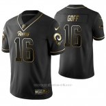Camiseta NFL Limited Hombre St Louis Rams Jared Goff Golden Edition Negro