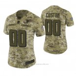 Camiseta NFL Limited Mujer Atlanta Falcons Personalizada 2018 Salute To Service Verde