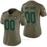 Camiseta NFL Limited Mujer New York Jets Personalizada 2017 Salute To Service Verde