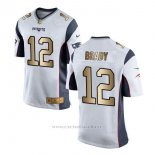 Camiseta New England Patriots Brady Blanco Nike Gold Game NFL Hombre