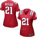 Camiseta New England Patriots Butler Rojo Nike Game NFL Mujer