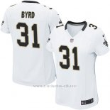 Camiseta New Orleans Saints Byrd Blanco Nike Game NFL Mujer