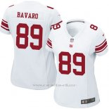 Camiseta New York Giants Bavaro Blanco Nike Game NFL Mujer