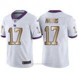Camiseta New York Giants Harris Blanco Nike Gold Legend NFL Hombre
