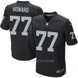Camiseta Oakland Raiders Howard Negro Nike Elite NFL Hombre