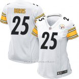 Camiseta Pittsburgh Steelers Burns Blanco Nike Game NFL Mujer