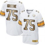 Camiseta Pittsburgh Steelers Greene Blanco Nike Gold Elite NFL Hombre
