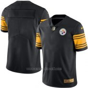 Camiseta Pittsburgh Steelers Negro Nike Gold Legend NFL Hombre