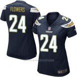 Camiseta San Diego Chargers Flowers Negro Nike Game NFL Mujer