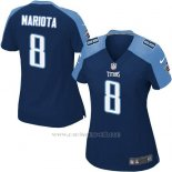 Camiseta Tennessee Titans Mariota Azul Oscuro Nike Game NFL Mujer