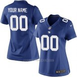 Camisetas NFL Limited Mujer New York Giants Personalizada Azul