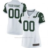 Camisetas NFL Limited Mujer New York Jets Personalizada Blanco