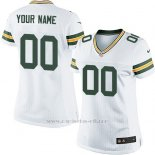 Camisetas NFL Mujer Green Bay Packers Personalizada Blanco